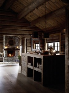 Vintage Touches on Rustic Rough Wood House 2