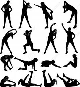 4760273-woman-exercising-silhouettes-vector-Stock-Vector-exercise-fitness-stretching