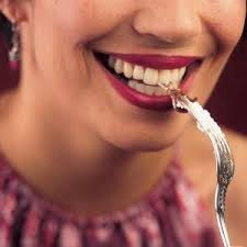 fork in mouth