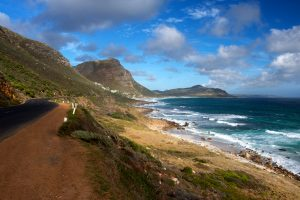 The coast road to the Cape of Good Hope