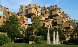 Strange box-like construction (Habitat' 67) built for the Expo' 67 on Ile St Helene, Montreal *** Local Caption *** City Pack Montreal 45, World of Discovery Amazing Places 260, World of Discovery Great Cities 140, Essential Spiral Canada East 118/119,