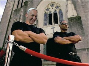 pope francis bouncer