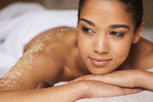 Closeup shot of a young woman relaxing during a spa treatment